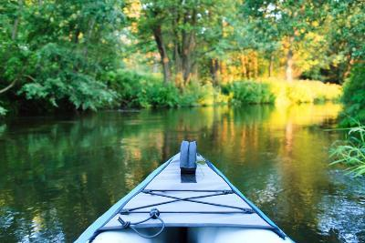 Kayak on a Small River-maksheb-Photographic Print