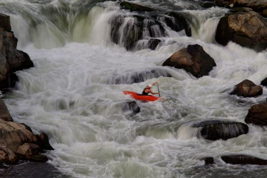 Kayak Surfing in Whitewater on the Potomac River-Tyrone Turner-Photographic Print