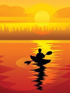 Kayaker at Sunset