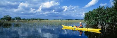 Kayaker in Everglades National Park, Florida, USA--Photographic Print