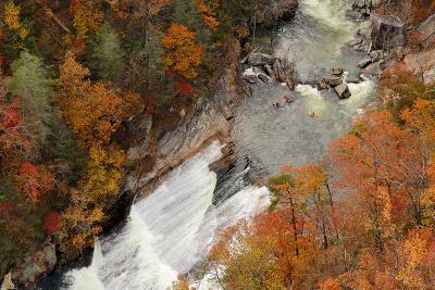 Kayakers Contemplate Going down a Rapid Viewed from above at Tallulah Gorge, Georgia.-ESB Professional-Photographic Print