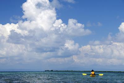 Kayaking around Barrier Reef, Southwater Cay, Belize-Cindy Miller Hopkins-Photographic Print