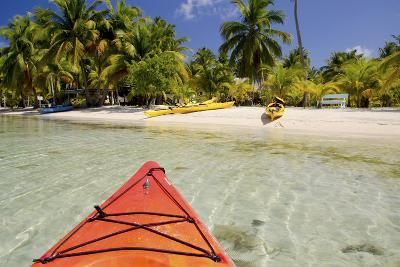 Kayaking in Clear Waters, Southwater Cay, Belize-Cindy Miller Hopkins-Photographic Print