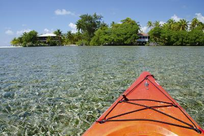 Kayaking in the Shallow Water, Southwater Cay, Stann Creek, Belize-Cindy Miller Hopkins-Photographic Print