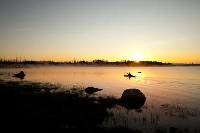 Kayaking Jackson Lake In Grand Teton National Park, WY-Justin Bailie-Photographic Print