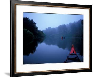 Kayaking on the Monomoy River, Cape Cod, Harwich, Massachusetts, USA-Jerry & Marcy Monkman-Framed Photographic Print
