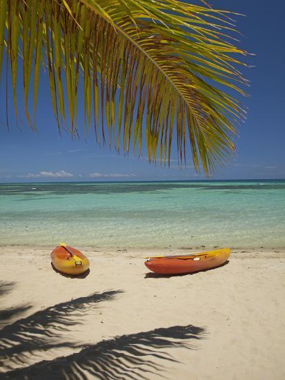 Kayaks on the Beach, Plantation Island Resort, Malolo Lailai Island, Mamanuca Islands, Fiji-David Wall-Premium Photographic Print