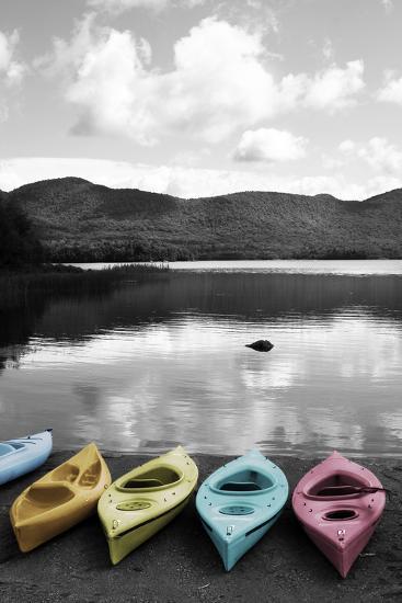Kayaks Pastels-Suzanne Foschino-Art Print
