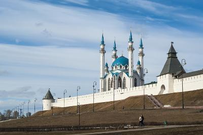 Kazan Kremlin, View of the Kul-Sharif Mosque- gospodin_mj-Photographic Print