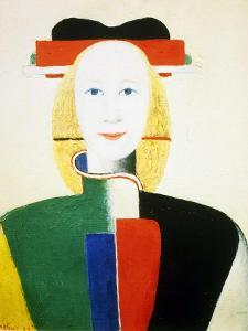 A Girl with a Comb, 1932-1933 by Kazimir Malevich