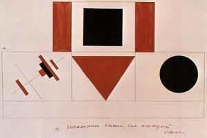 Design for the Speaker's Rostrum, 1919 by Kazimir Malevich