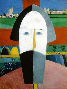 Head of a Peasant, 1928-1932 by Kazimir Malevich