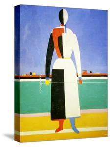Woman with a Rake, 1928-1932 by Kazimir Malevich