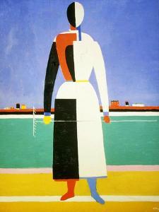 Woman with a Rake, 1928-1932 by Kazimir Malevich