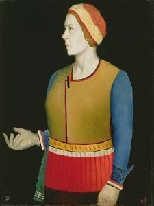 Portrait of Natalya Andreevna Malevich (Nee Manchenka) (B.1902) the Artist's Wife, 1933 by Kazimir Severinovich Malevich