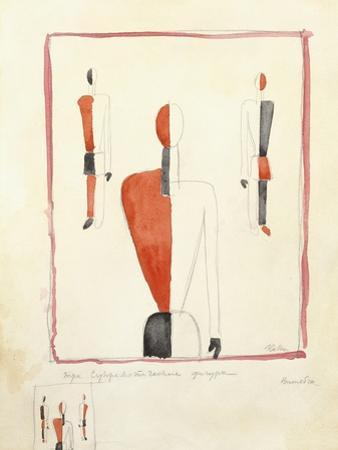 Three Suprematist Figures, C. 1921-2