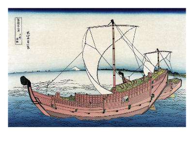 Kazusa Sea Route-Katsushika Hokusai-Art Print