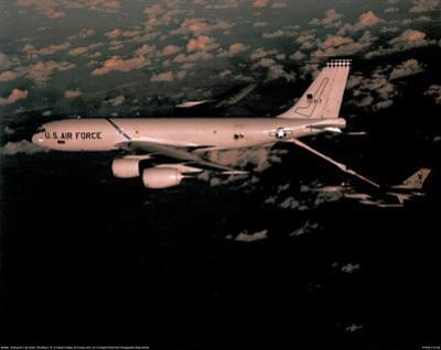 KC-135 Tanker (Fueling Mid-Air) Art Poster Print