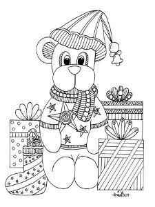 Christmas Bear by KCDoodleArt