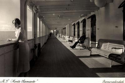 Kdf Dampfer Monte Sarmiento, Frau Auf Promenadendeck--Giclee Print