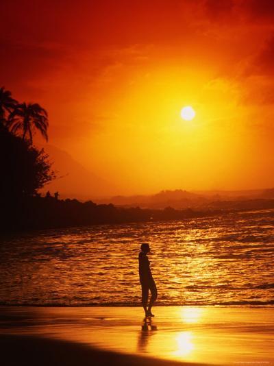 Ke'e Beach at Sunset-Linda Ching-Photographic Print