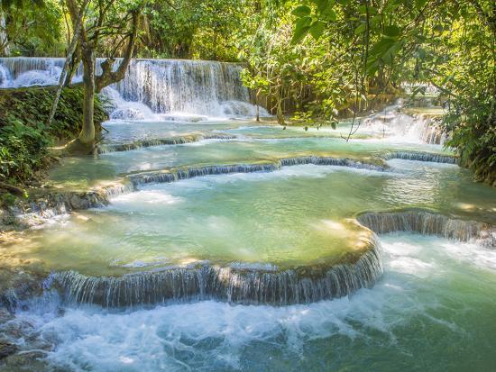 Keang Si waterfalls, near Luang Prabang, Laos, Indochina, Southeast Asia, Asia-Melissa Kuhnell-Photographic Print