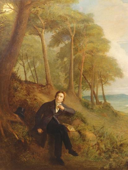 Keats Listening to the Nightingale on Hampstead Heath, 1845 (See also 145175)-Joseph Severn-Giclee Print