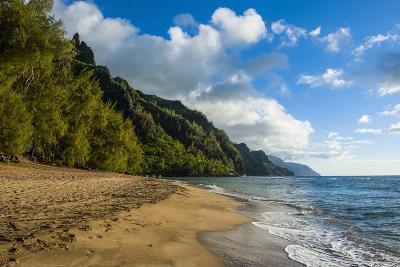 Kee Beach on the Napali Coast, Kauai, Hawaii, United States of America, Pacific-Michael Runkel-Photographic Print