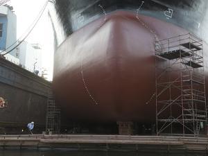 Bulb Nose of a Ship in Gdansk Dry Dock Shipyard by Keenpress