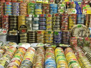 Canned Food Being Sold at Central Market, Produce Market in Former Airship Hanger from the 30's by Keenpress