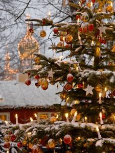 Christmastime at Tivoli Gardens, Copenhagen, Denmark by Keenpress