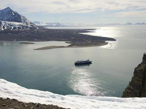 Landscape View with National Geographic Explorer at Krossfjorden by Keenpress