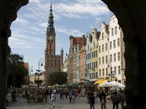 Long Market in Gdansk Seen Through Green Gate by Keenpress
