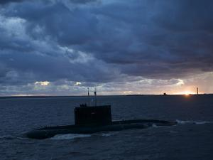 Russian Submarine Passing Kronstadt by Keenpress