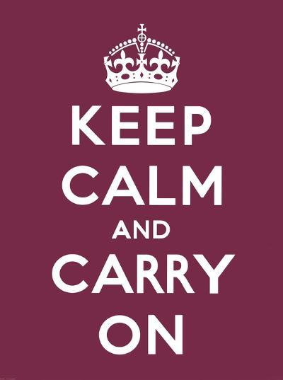 Keep Calm and Carry On-The Vintage Collection-Art Print