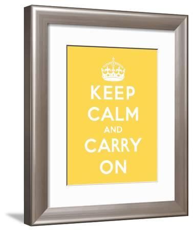 Keep Calm and Carry On-The Vintage Collection-Framed Art Print
