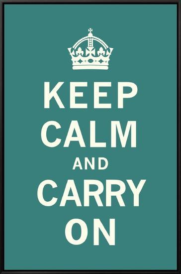 Keep Calm and Carry On--Framed Canvas Print