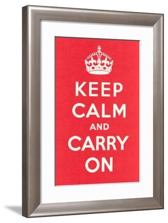 Keep Calm and Carry On--Framed Art Print