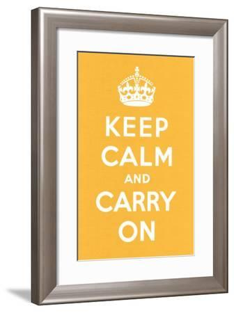 Keep Calm and Carry On--Framed Art Print