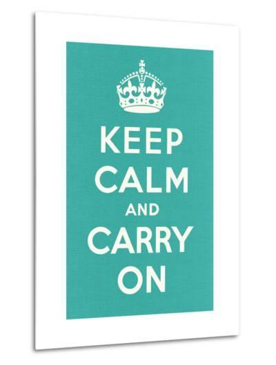 Keep Calm and Carry On--Metal Print