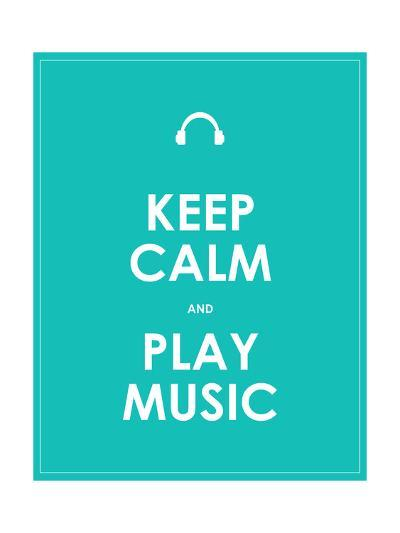 Keep Calm and Play Music,Vector Background,Eps10-place4design-Art Print