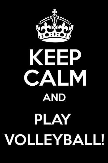 Keep Calm and Play Volleyball-Andrew S Hunt-Art Print