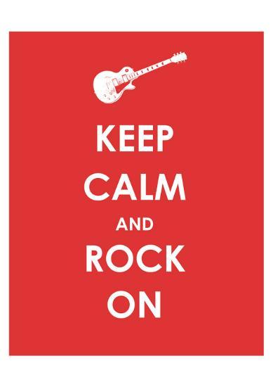 Keep Calm and Rock On (Guitar)--Giclee Print