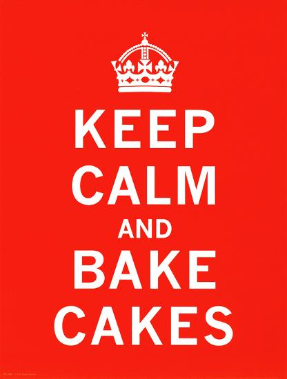 Keep Calm, Bake Cakes-The Vintage Collection-Art Print