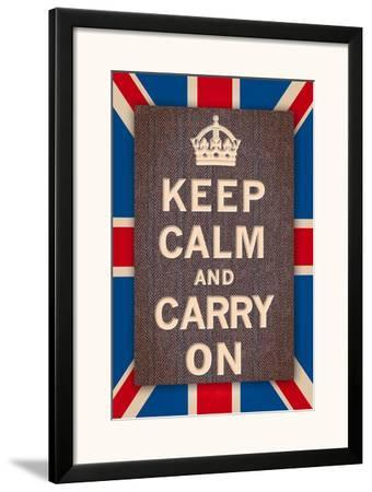 Keep Calm Britain-The Vintage Collection-Framed Art Print