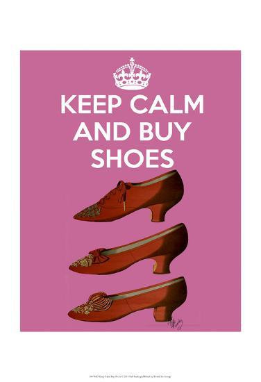 Keep Calm Buy Shoes-Fab Funky-Art Print