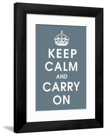 Keep Calm (charcoal)--Framed Giclee Print