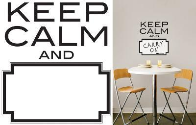 Keep Calm Dry Erase Wall Decal Sticker Quote--Wall Decal
