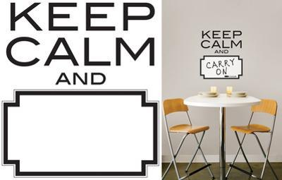 Keep Calm Dry Erase Wall Decal Sticker Quote