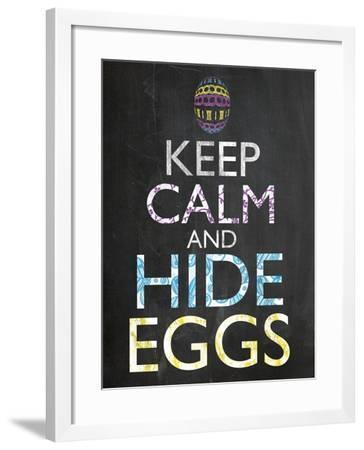 Keep Calm Easter Chalk-Lauren Gibbons-Framed Art Print